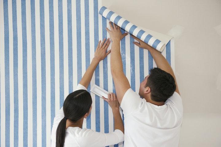 墙纸怎么贴?