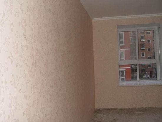 毛坯房水泥沙子墙面能直接贴墙纸么?