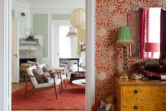 不同房间可以有不同风格的墙纸喔!