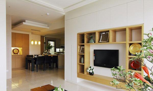 展示收纳机能兼具的电视柜设计