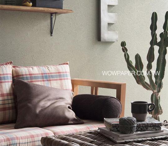 巧用墙纸伪装各种风格的建材来装修墙壁