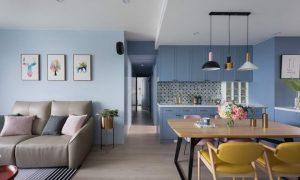 【墙纸装修案例】灰蓝粉蓝墙布集合,营造层次百出的英式蓝调插图