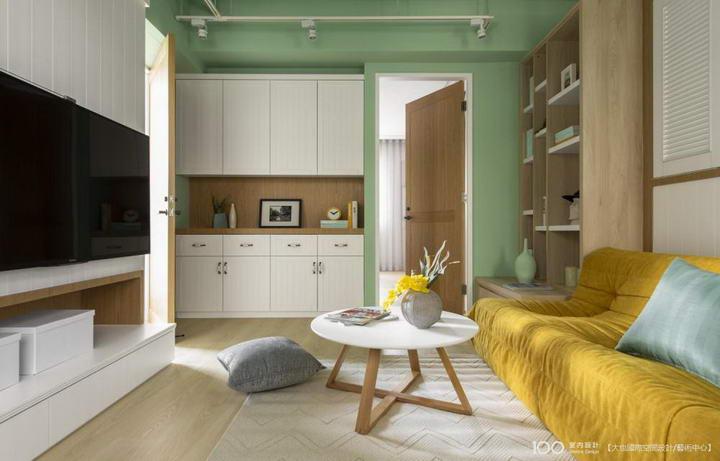 【装修案例效果图】墙布撞色搭配设计,让家里变好看插图