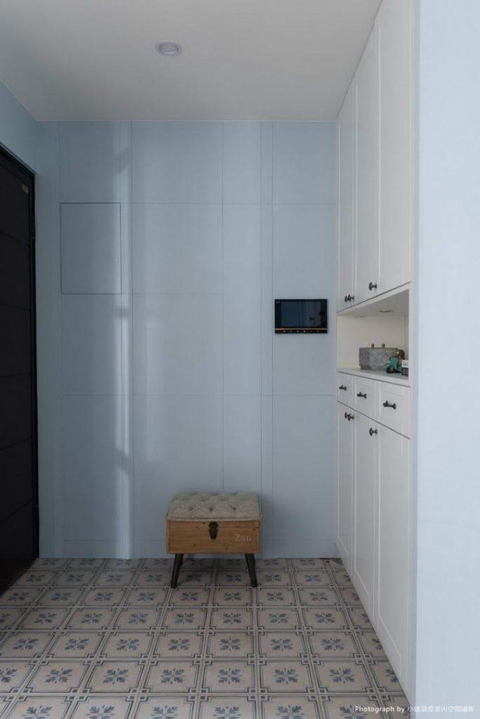 【墙纸装修案例】灰蓝粉蓝墙布集合,营造层次百出的英式蓝调插图(3)