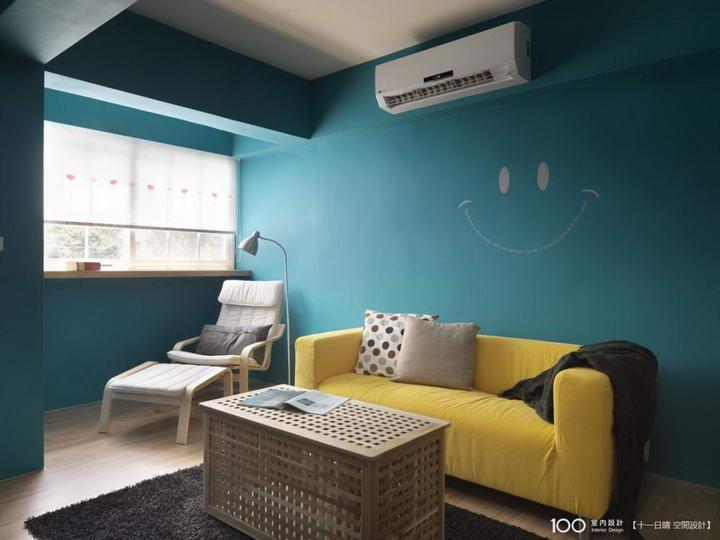 【装修案例效果图】墙布撞色搭配设计,让家里变好看插图(3)