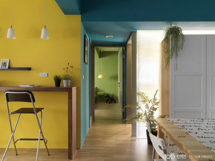 【装修案例效果图】墙布撞色搭配设计,让家里变好看插图(4)