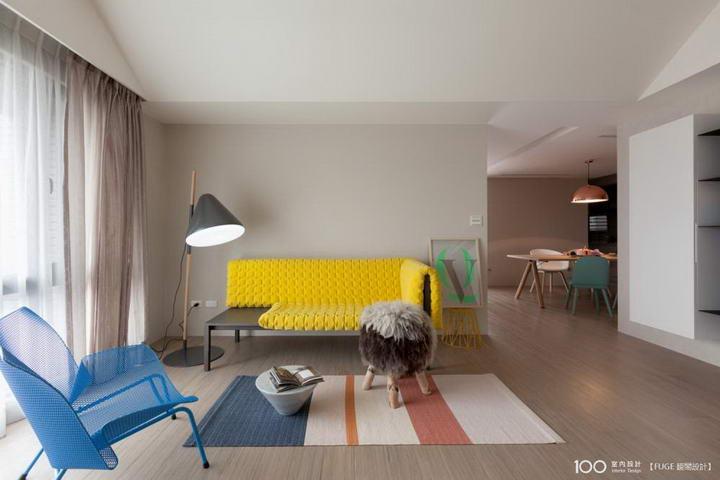 【装修案例效果图】墙布撞色搭配设计,让家里变好看插图(6)