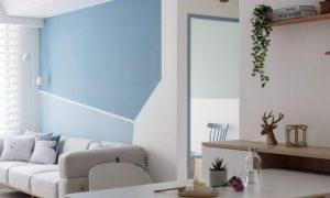 【装修案例】灰蓝色墙纸+木色,新房装修伴孩子快乐长大插图