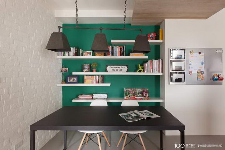 【装修案例效果图】墙布撞色搭配设计,让家里变好看插图(7)