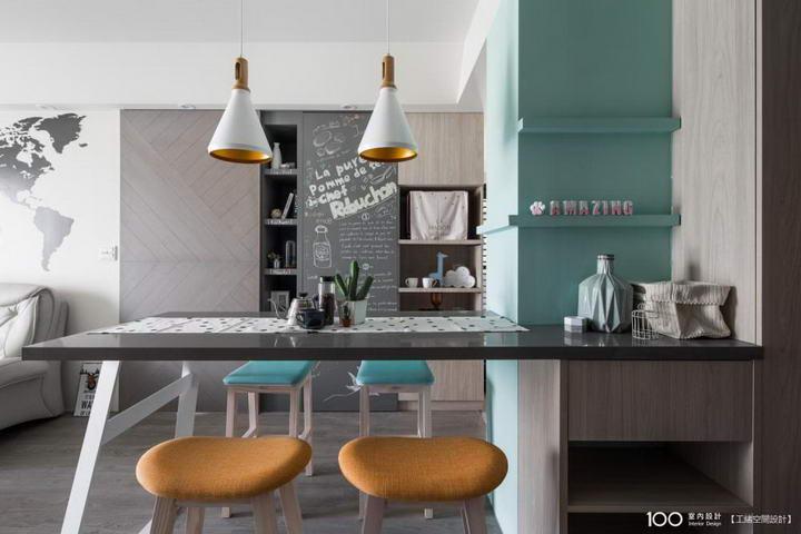 【装修案例效果图】墙布撞色搭配设计,让家里变好看插图(8)