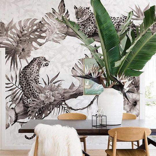 利用墙纸将家装修出热带海岛渡假风插图3