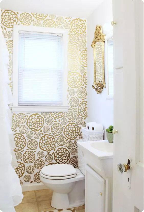卫生间/浴室里可以使用墙纸么?