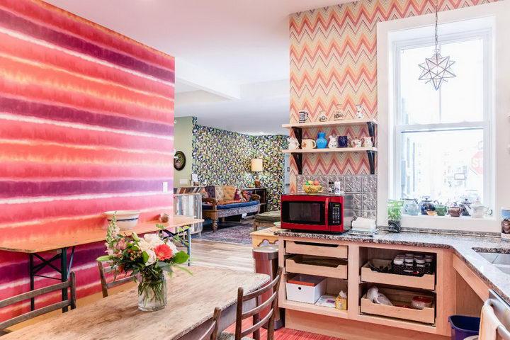 墙纸装修案例:用墙纸装修出神奇空间的美国旅馆插图1