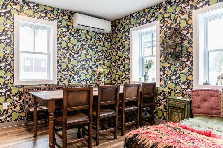 墙纸装修案例:用墙纸装修出神奇空间的美国旅馆插图2