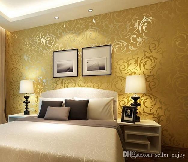 橙色卧室墙纸
