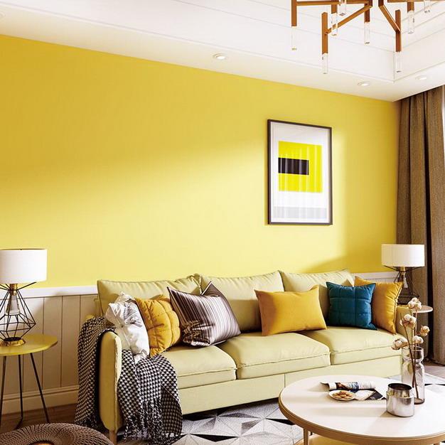 黄色卧室墙纸