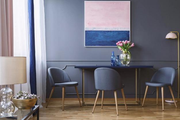 藏青色墙纸+粉色