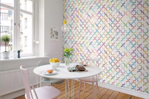 几何形状拼图墙纸