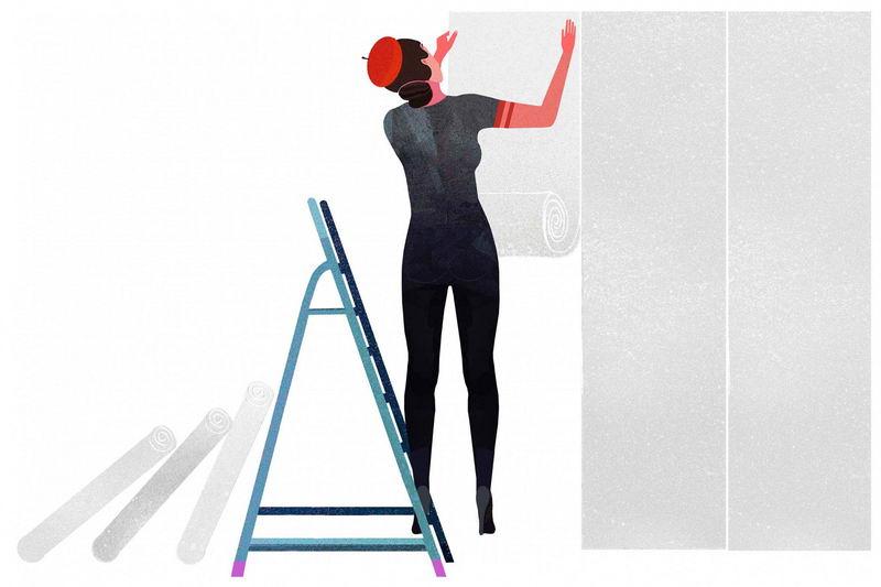 【贴墙纸流程三】如何准备墙壁表面插图3